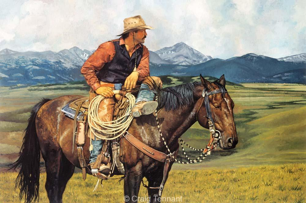 A Great View - Craig Tennant - Craig Tennant Originals Western Art Cowboy Art