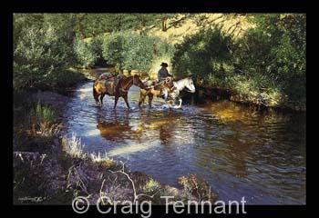 Black Hole - Craig Tennant - Craig Tennant Originals Hunting Art Mule Packing Art