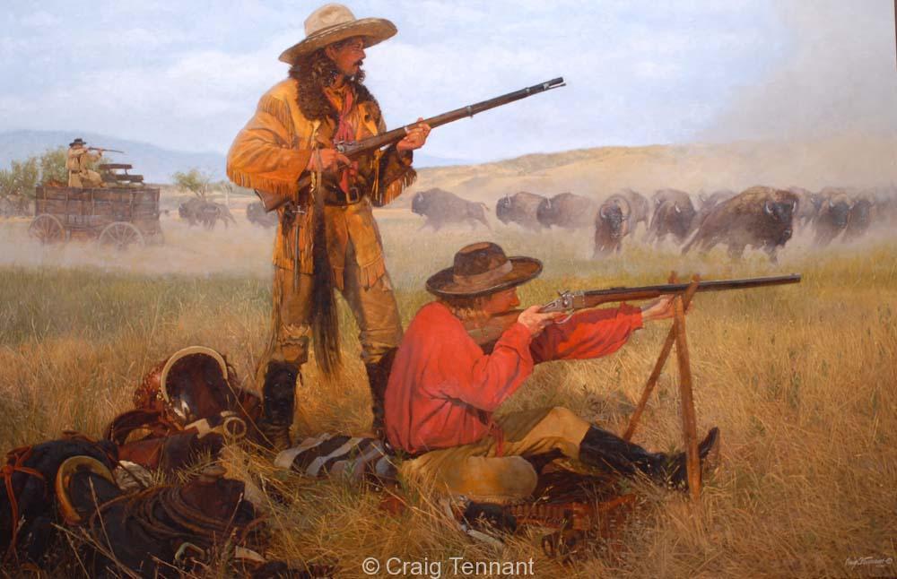 Buffalo in Camp - Craig Tennant - Craig Tennant Originals