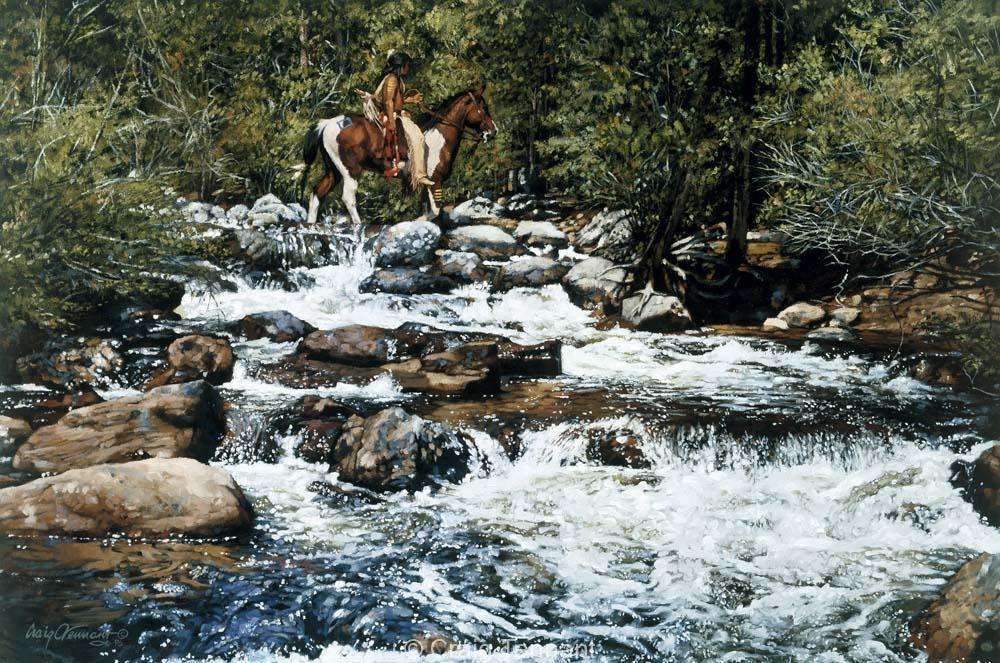Crow Dreamer - Craig Tennant - Craig Tennant Originals Native American Artwork Native American Paintings