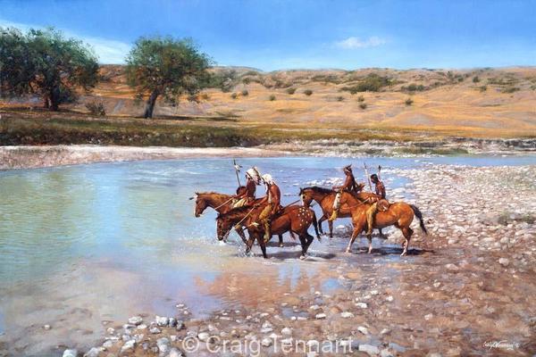 Dakota Blue - Craig Tennant - Craig Tennant Originals Native American Artwork Native American Paintings