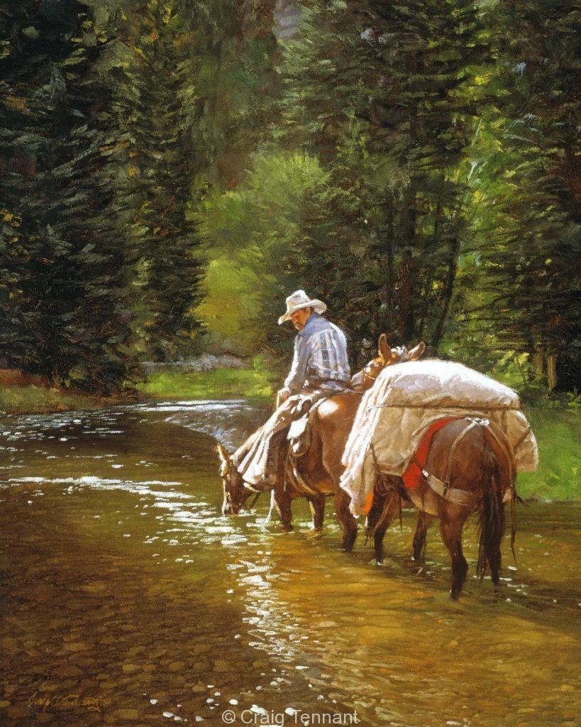 Don`t Bite Me - Craig Tennant - Craig Tennant Originals Western Art Cowboy Art