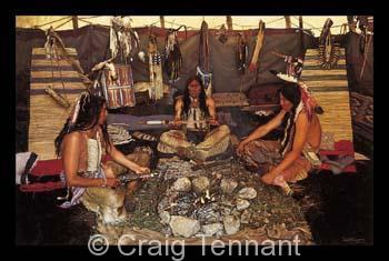 For Tomorrow`s Raid - Craig Tennant - Craig Tennant Originals Native American Artwork Native American Paintings