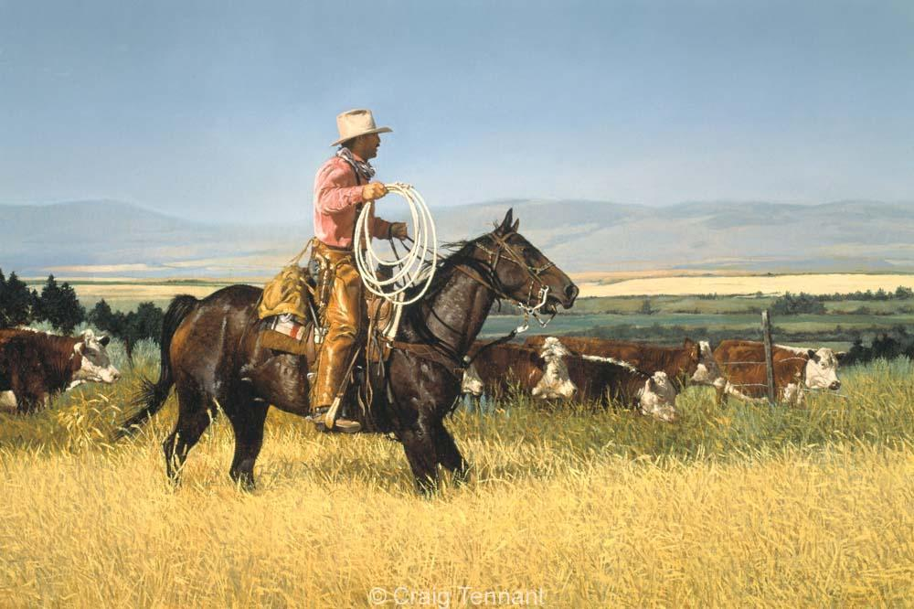 Gate Crashers - Craig Tennant - Craig Tennant Originals Western Art Cowboy Art
