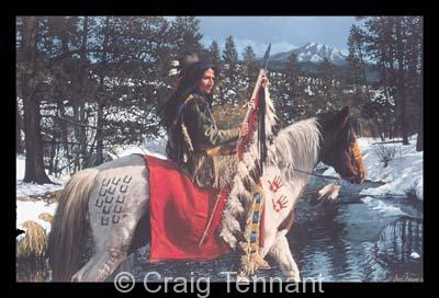 His Land - Craig Tennant - Craig Tennant Originals Native American Artwork Native American Paintings