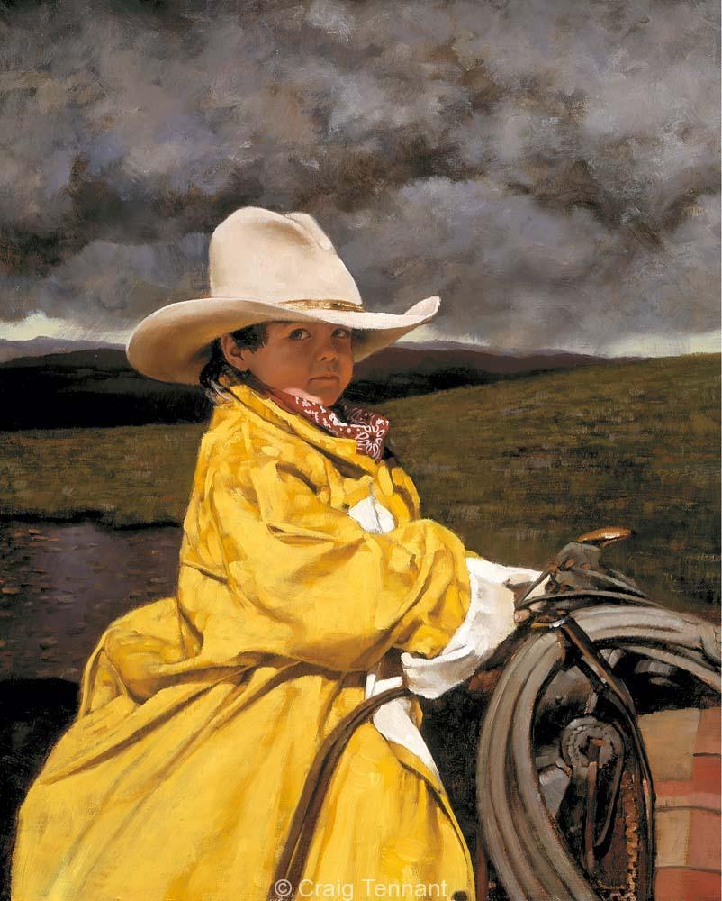 Looks Like Rain - Craig Tennant - Craig Tennant Originals Western Art Cowboy Art