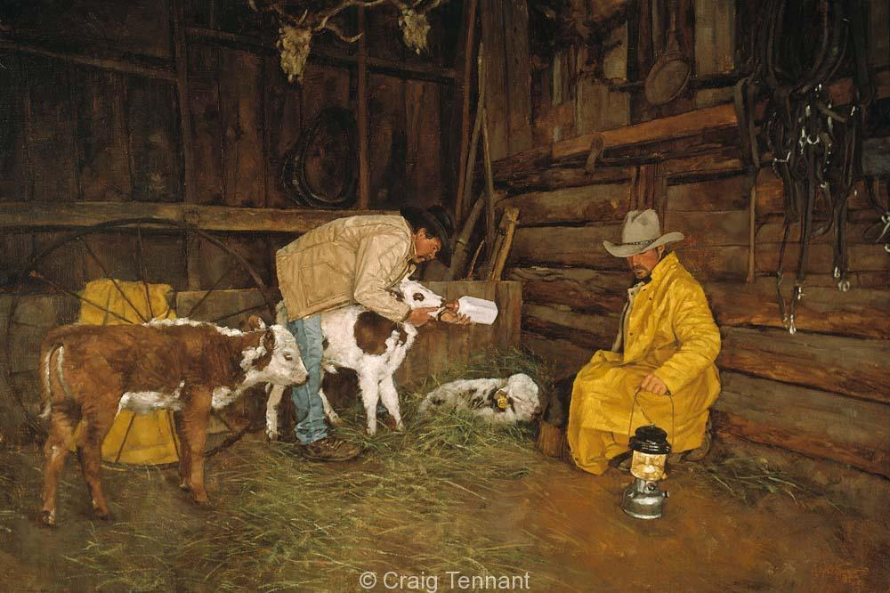 Nursemaids - Craig Tennant - Craig Tennant Originals Western Art Cowboy Art