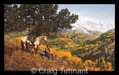 "Paradise Valley <br> <font color=""red"">Low Inventory</font> - Craig Tennant - Craig Tennant Originals Western Art Cowboy Art"