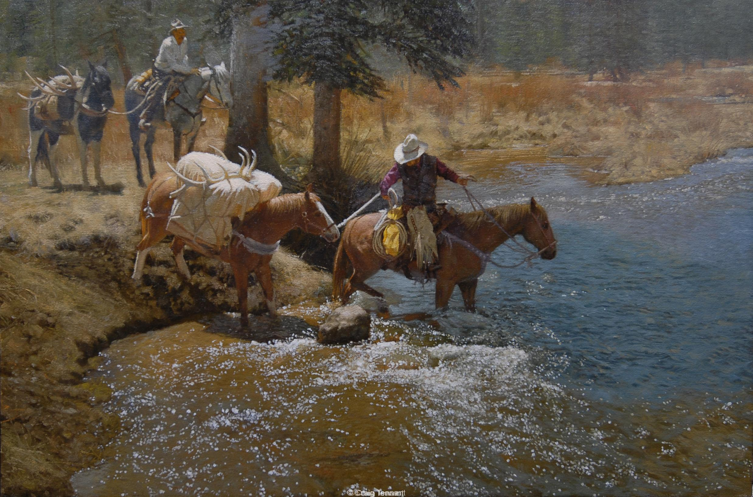 Pre-Wreck<br>Pre-Wreck Selected by Rocky Mountain Elk Foundation as 2014 Featured Artist - Craig Tennant - Craig Tennant Originals Awards Special Selections