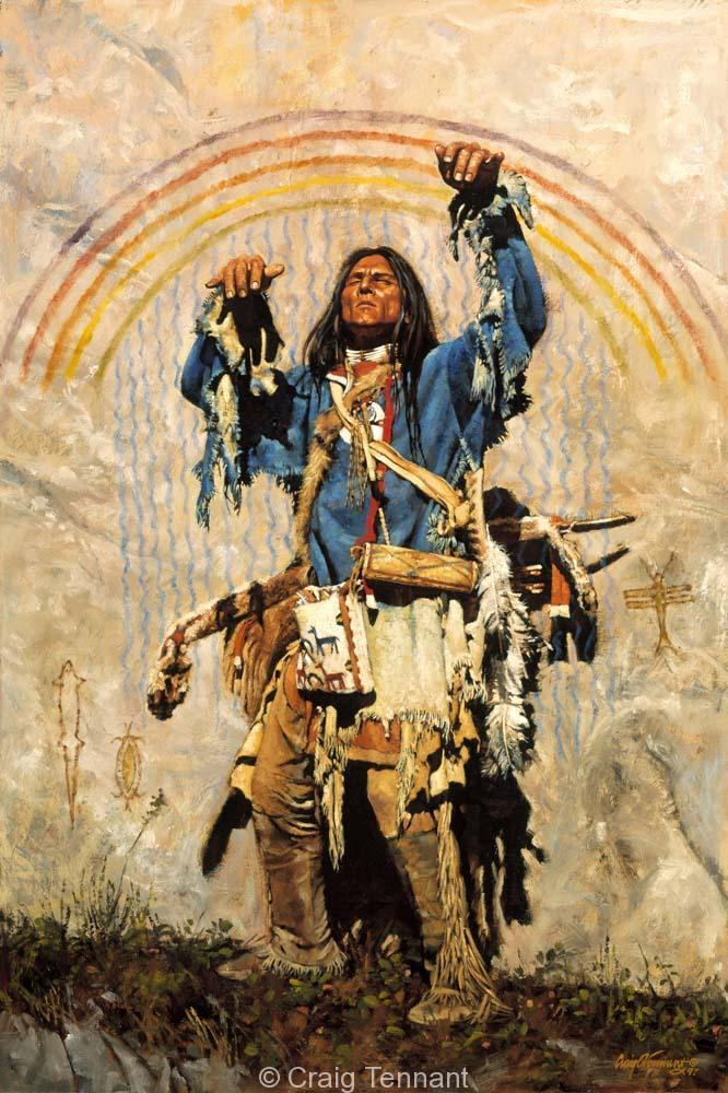 Rain Maker - Craig Tennant - Craig Tennant Originals Native American Artwork Native American Paintings