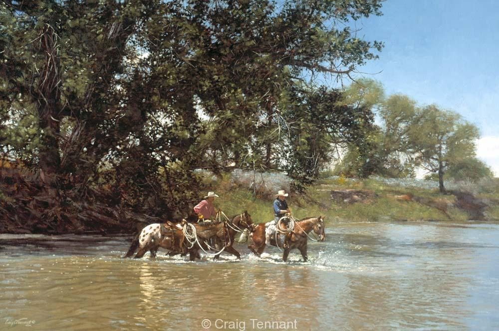 Riding with Dangerous Dan - Craig Tennant - Craig Tennant Originals Western Art Cowboy Art
