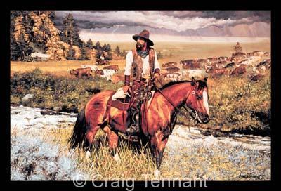"Rite of Passage <br> <font color=""red"">Low Inventory</font> - Craig Tennant - Craig Tennant Originals Western Art Cowboy Art"