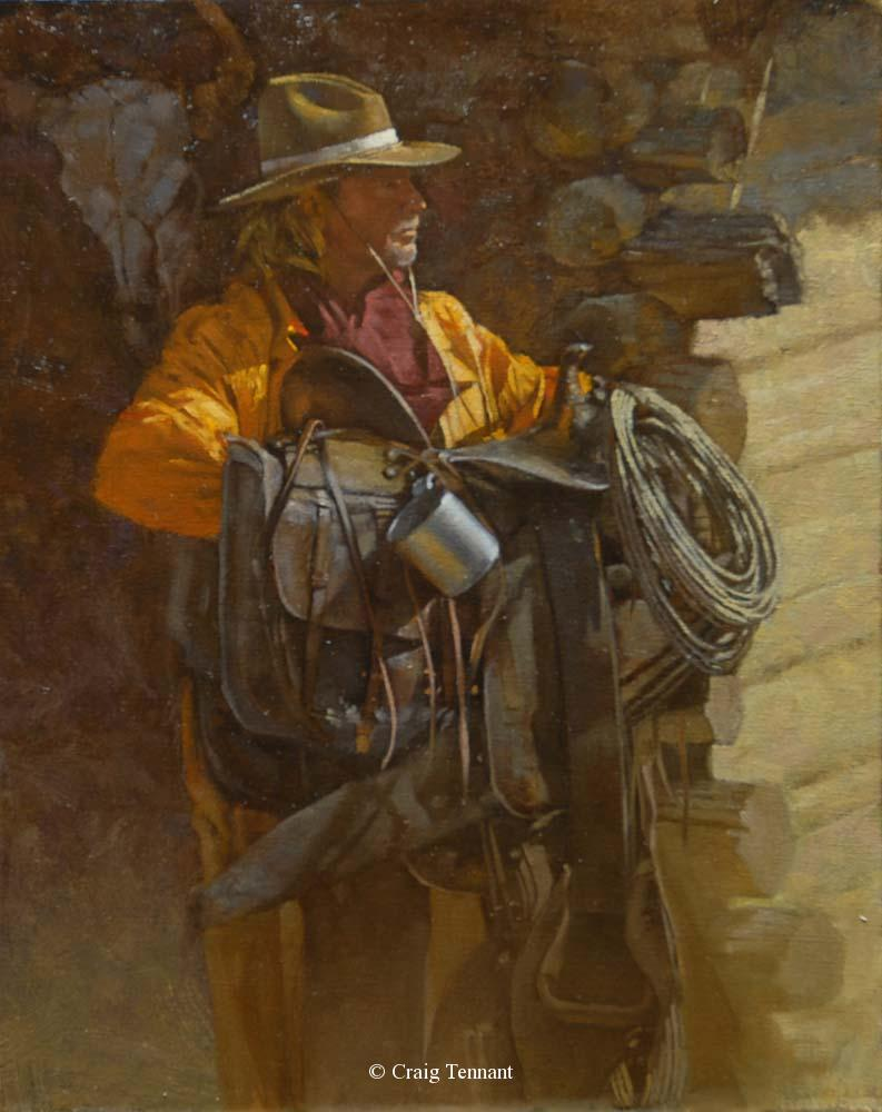 "Saddle Up <br>20"" x 16"" Oil on Linen - Craig Tennant - Craig Tennant Originals"