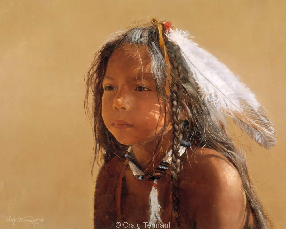 Sioux Boy - Craig Tennant - Craig Tennant Originals Native American Artwork Native American Paintings
