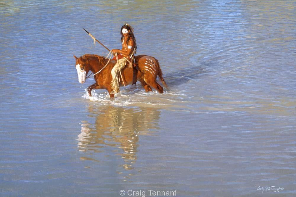 Sioux Reflections - Craig Tennant - Craig Tennant Originals Native American Artwork Native American Paintings