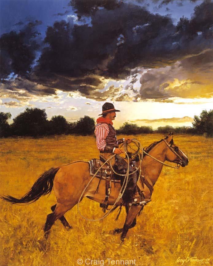 Sundowner - Craig Tennant - Craig Tennant Originals Western Art Cowboy Art