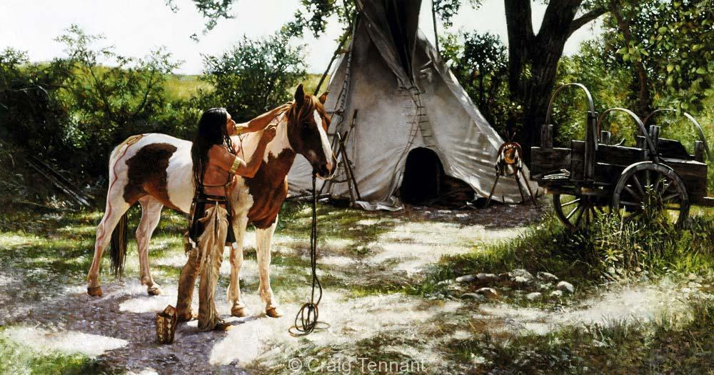 The Artist`s Touch - Craig Tennant - Craig Tennant Originals Native American Artwork Native American Paintings