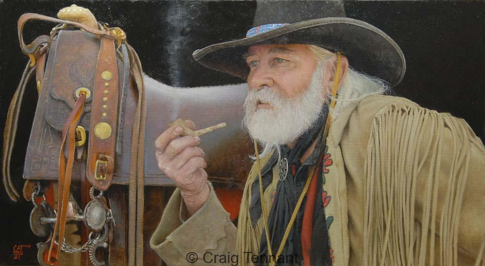 "The Patriarch 20"" x 36"" Oil on Linen - Craig Tennant - Craig Tennant Originals"