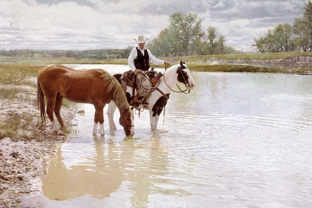 Unquenchable Thirst - Craig Tennant - Craig Tennant Originals Western Art Cowboy Art