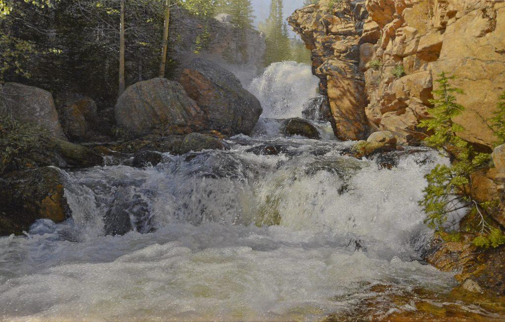 """Glacier Gorge"" 32"" x 50"" Original Oil on Linen by Craig Tennant"