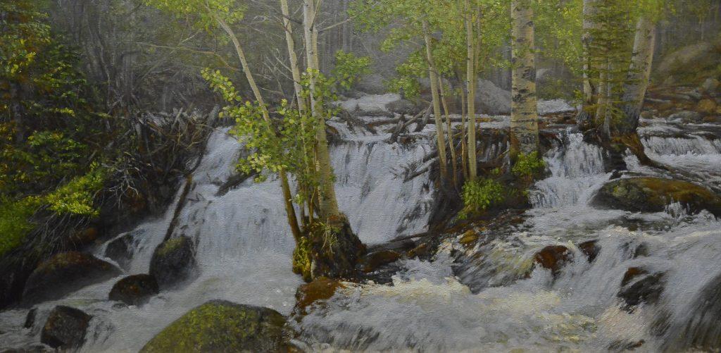 """Aspen Grove"" 20"" x 40"" Original Oil on Linen by Craig Tennant"