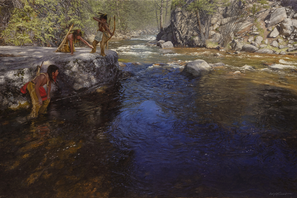 """Trout Haven"" by Craig Tennant Original 27"" x 40"" oil on Linen"